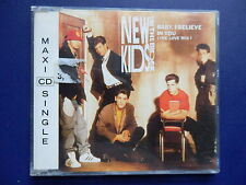 New kids on the block NKOTB Baby I believe in you 3 track 1990 CD single