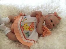 Adorable Reborn Baby  Preemie Girl Tayla and comes with white bassinet