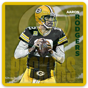Aaron Rodgers Green Bay Packers Character Rendering NFL Football MAGNET