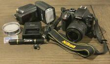 Nikon D3300 Dslr 24.2 Mp Hd 1080p Camera 18-55mm Lens Black Kit W/ Accessories