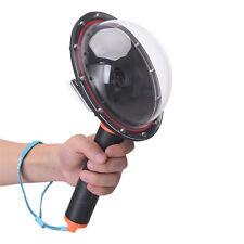 Handheld Waterproof Camera Dome Port Lens Underwater Photography For Gopro 4 3+