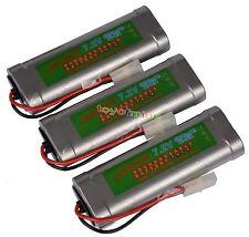 7.2V 6800mAh Ni-MH Rechargeable Battery RC Tamiya x3