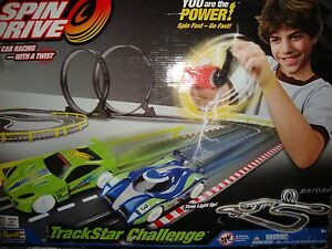 NEW REVELL SPIN  DRIVE TRACKSTAR CHALLENGE SLOT CAR RACING RACE TRACK
