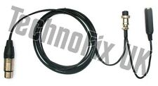 Cable for Heil microphones 4 pin XLR to 8 pin round for Icom, CC-1-I8 equiv.