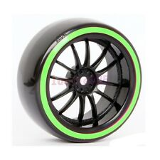 4PCS RC 1/10 On-Road Drift Car Hard Smooth Tyres Tires Wheels Hub Rim 6031-5004