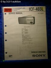Sony Service Manual ICF 403L 3 Band Radio (#4672)