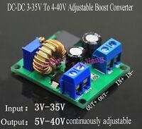 DC-DC 3-35V To 4-40V Adjustable Boost Converter Step-up Power Supply Module