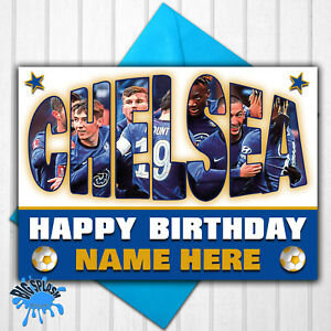 Chelsea Personalised Birthday Card Any Name or Relative Age 21st 30th 40th etc