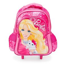 Pink Barbie Blissa Trolley Bag Kids Small Holdall Luggage Girls Wheeled Backpack