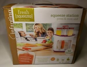 Infantino Fresh Squeeze Station 10 Free Pouches NIB READ