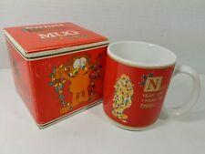 """NIB Vintage 1978 Enesco Garfield """"Next Year Can I Hang the Tinsel?"""" Mug, Perfect"""