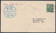 #CL47-2900a 1ST FLT AIRMAIL ON CANADA SEMI POSTAL COVER 1929 TO EDMONTON BT9304