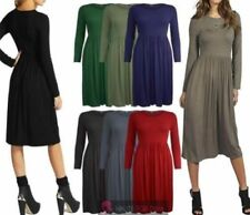 Stretch Solid Plus Size Dresses for Women