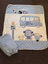 NEXT Cheeky Monkey cot bed quilt and fitted sheet