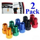 2 Pack Presta to Schrader Valve Stem Adapter Converter Bicycle Bike Tire Tube