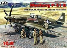 P-51 B MUSTANG W/PILOTS AND GROUND CREW (J.HERBST - USAAF ACE MkGS)#125 1/48 ICM