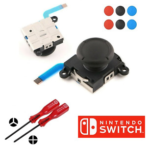 Analog Thumb Stick for Nintendo Switch Joy Con Left Right Repair Kit Tools+Grips