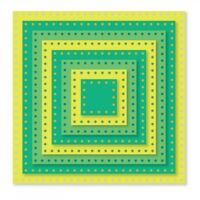 Dotted Squares Sizzix Framelits Thin Metal Die Set NEW!