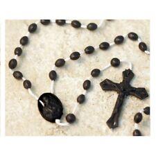 100 Black Plastic  Rosary Beads