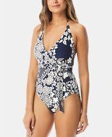 Vince Camuto 161994 Woman's Floral Print Wrap-Tie One-Piece Swimsuit Size 12