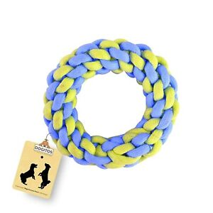 Rope Dog Toys | Knotted Cotton Ring Dog Chew Toy for Small and Medium Breeds