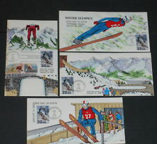 1988 Winter Olympics 4 Collins handpainted first day covers