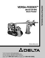 Delta 36-865 Versa Feeder Instructions Manual
