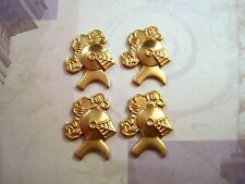 Small Raw Brass Knight Stampings (4) - SG8628
