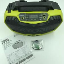 Ryobi P746 One+ 18v Lithium Ion / AC Dual-Powered AM/FM Stereo, Battery, Charger