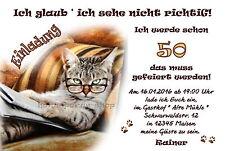 50 Lustige Einladungskarten Katze Geburtstag Einladungen Jedes Alter Party