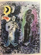 Marc Chagall, Black Couple With Musician, Offset Lithograph,1963,Mourlot,Paris
