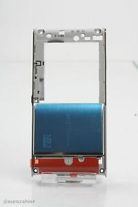 ORIGINAL Sony Ericsson U1i Satio Kamera Cover SILBER / Backcover / Gehäuse MI...