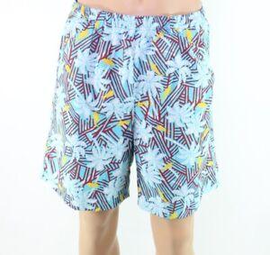 Columbia Mens Swimwear Blue Size Medium M Trunks Palm Tree Tropical $35 #396
