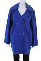 Pret Pour Partir Womens Hooded Double Breasted Gemma Raincoat Blue Size 44