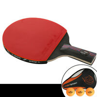 Table Tennis Ping Pong Racket Paddle Bat + Balls + Cover + Protective Film Set