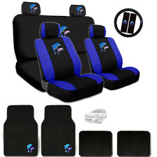 Ultimate Dolphin Seat Steering Wheel Headrest Covers Mats Gift Set For Chevrolet
