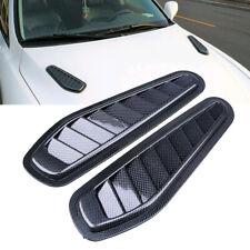 2x New Race Car Hood Scoop Carbon Fibre Bonnet Air Vent Decorative Accessories