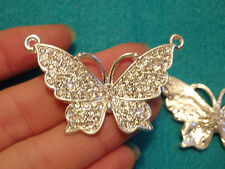 Grand Papillon Charms Strass Cristal Pendentif Perles Bijoux Making Wholesale
