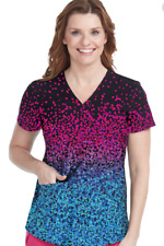 NWT Sold-out BESTSELLER Med Couture Print Scrub Top 8518-CFDT Confetti Size XS