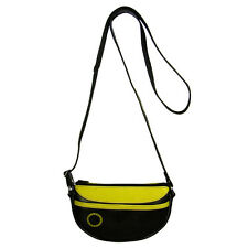 Upcycled Tire Tube Shoulder Bag Black & Yellow from El Salvador