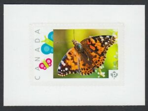 BUTTERFLY =cut from Top of Picture Postage stamp sheet Canada 2018 [p18-01sn13b]