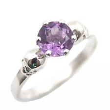 Skull Ring 9ct Gold 1ct Natural Amethyst Engagement Ring
