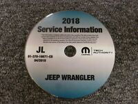2018 Jeep Wrangler JL Service Manual CD Sport S Moab Rubicon Sahara Gas Diesel