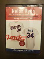 NOLAN RYAN SEALED 1992-1993 TEXAS RANGERS GAME WORN JERSEY MYSTERY SWATCH BOX