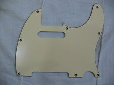 REPLACEMENT VINTAGE CREAM  3 PLY PICK GUARD, 4 FENDER TELECASTER