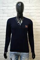 Paul & Shark M Maglione Uomo Slim Blu Pullover Lana Maglia Cardigan Sweater Man