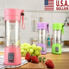 380ml Mini Juicer Bottle Fruit Juice Maker Mixer with 2 Vanes USB Rechargeable