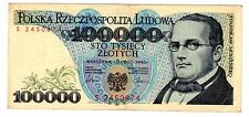 Pologne POLAND Billet 100000 ZLOTYCH 1990  P154 LUNETTES  BON ETAT