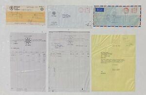 FRANK ZAPPA John Lennon NORTHERN SONGS Uncashed Royalty Check & Correspondence