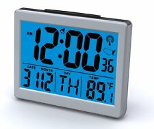 Kentech Atomic LCD Alarm Clock Big Numbers Date Temperature Bright Loud